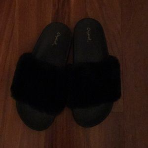 Brand new fuzzy slippers